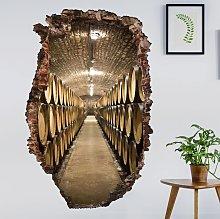 Adesivo murale 3D - Wine Cellar - verticale 3:2