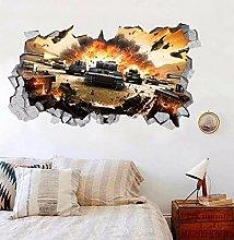 Adesivo murale 3D World of Tanks