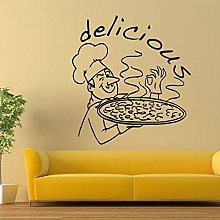 Adesivo murale, 42x46cm, vetrofania per ristorante
