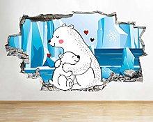 Adesivo murale 60×90cm Adesivi murali Orso polare