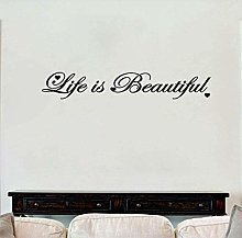 Adesivo murale 88x14 1 cm Life è bella parola