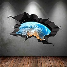 Adesivo murale a colori terra spazio pianeta