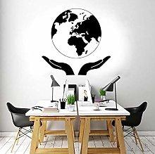 Adesivo Murale A Guardia Della Terra Mappa Del