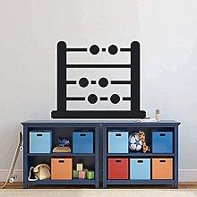 Adesivo Murale Abacus Math Wall Sticker Design