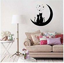 Adesivo Murale Adesivi Murali Due Gatti Nella Luna