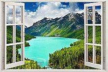 Adesivo murale adesivo auto finestra paesaggio