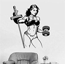 Adesivo murale Adesivo decalcomania Fitness Donna