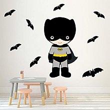 Adesivo murale Adesivo eroe pipistrello 3D Adesivo