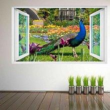 Adesivo Murale Adesivo Murale Con Uccello Pavone