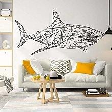 Adesivo Murale Adesivo Murale Geometrico Squalo