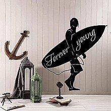 Adesivo murale Adesivo murale Surf Boy Ocean Teen
