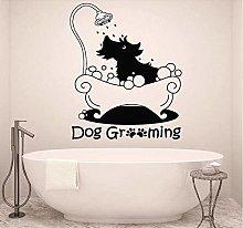 Adesivo murale Adesivo per cani Toelettatura Segno