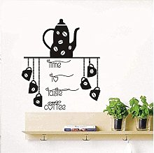 Adesivo murale Adesivo per tazza di caffè Adesivo