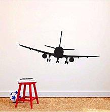Adesivo murale aereo di linea commerciale