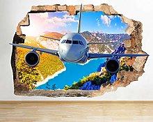 Adesivo murale Airplane Sky Mountain Sunset Smash