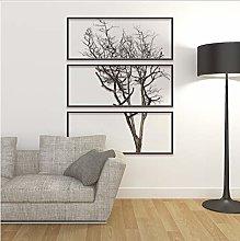 Adesivo murale albero fai da te con cornice per