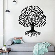 Adesivo murale albero foglia densa albero della