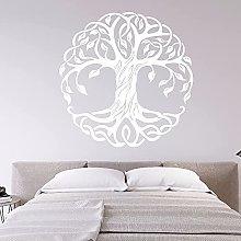 Adesivo murale albero rotondo mandala Studio di
