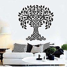 Adesivo murale albero tribale simbolo vita arte