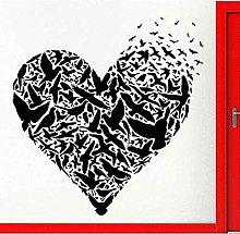 Adesivo murale Amore e uccellino romantico murale