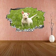 Adesivo Murale Animale Cane Decalcomania Murale