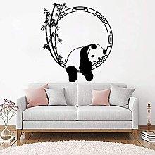 Adesivo Murale Animale Divertente Panda Bambù