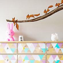 Adesivo murale animali - Fermati scoiattolo!