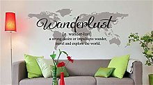 adesivo murale appendiabiti Wanderlust Definizione
