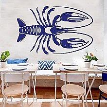 Adesivo murale aragosta ristorante di pesce