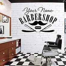 Adesivo murale arte barbiere adesivo decalcomania