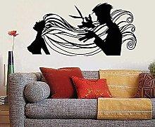 Adesivo murale Arte murale Parrucchiere Capelli