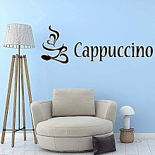 Adesivo murale arte PVC rimovibile cappuccino