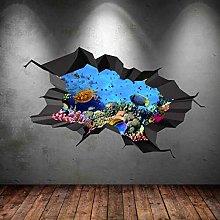 Adesivo murale aspetto 3D tatuaggi 60×90cm