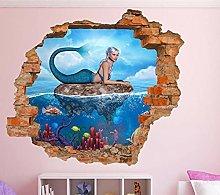Adesivo murale aspetto 3D tatuaggi 60×90cm Pesce