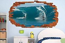 Adesivo murale aspetto 3D tatuaggi 60×90cm SURF