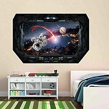 Adesivo Murale Astronauta Spaziale Con Effetto