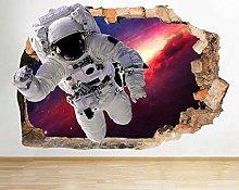 Adesivo murale astronauta spazio stella galassia
