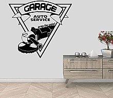 Adesivo Murale Auto Garage Decorazione Negozio