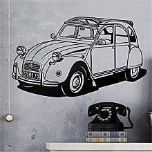 adesivo murale bambini albero Citroën 2CV per