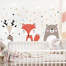 Adesivo murale bambini - Dolci animaletti della