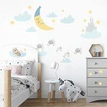 Adesivo murale bambini - Lune e stelline -