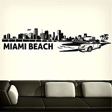 adesivo murale bambini Miami Skyline For Living