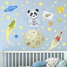 Adesivo murale bambini - Panda Astronauta