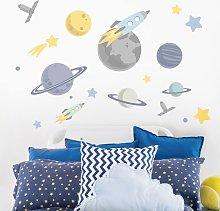 Adesivo murale bambini - Pianeti e navicelle