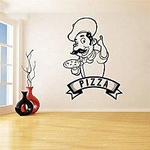 adesivo murale bambini Pizza decal Pizzeria Logo