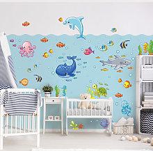 Adesivo murale bambini - Set acquatico con pesci -