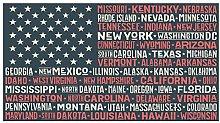 Adesivo murale Bandiera con i nomi dei singoli