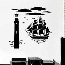 Adesivo murale Barca Faro Mare Nautico Vinile