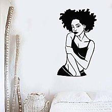 Adesivo murale bellezza africana adesivo ragazza