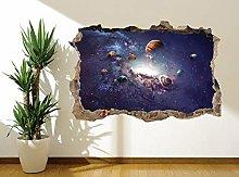 Adesivo murale bellissimo universo sistema solare